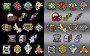 Free-To-Use Custom Pokemon Gym Badges by icycatelf