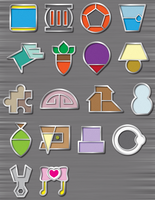 Free-To-Use Custom Pokemon Gym Badges II by icycatelf