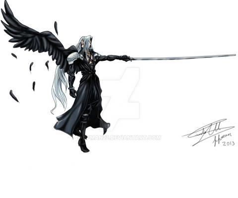 Sephiroth AC dissidia Style by ffman22