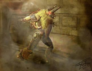 steampunk minotaurus
