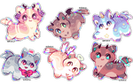 + smol and tiny adopts    closed + by MellowKun