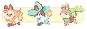 + bunnies adopt (closed) + by MellowKun