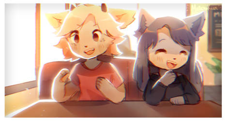 + hanging out + by MellowKun