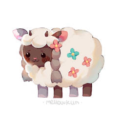 wooloo but in a weird chibi form by MellowKun