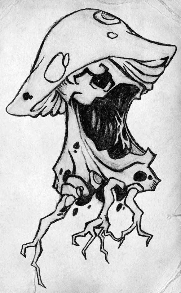 Magic Mushroom Drawings Magic Mushroom By...584