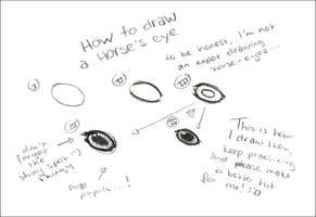 ..draw a horse's eye. by Kuwanyamtiwa
