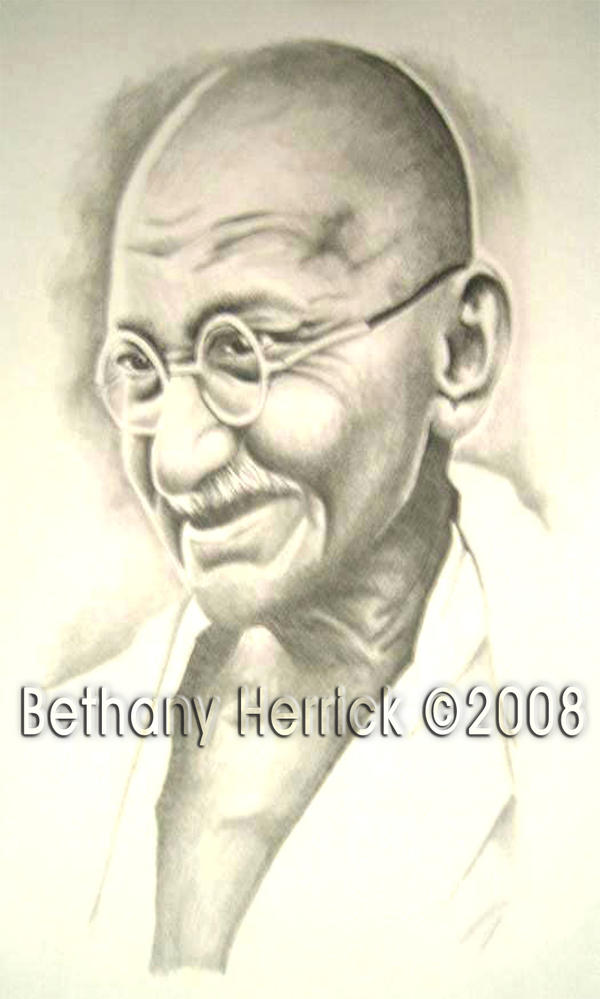 Gandhi by BethanyGQ