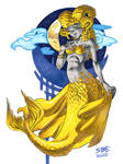 Kulve Taroth Mermaid/Humanization by SoftBoiledArt