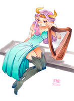 Nostalgic Bard by SoftBoiledArt