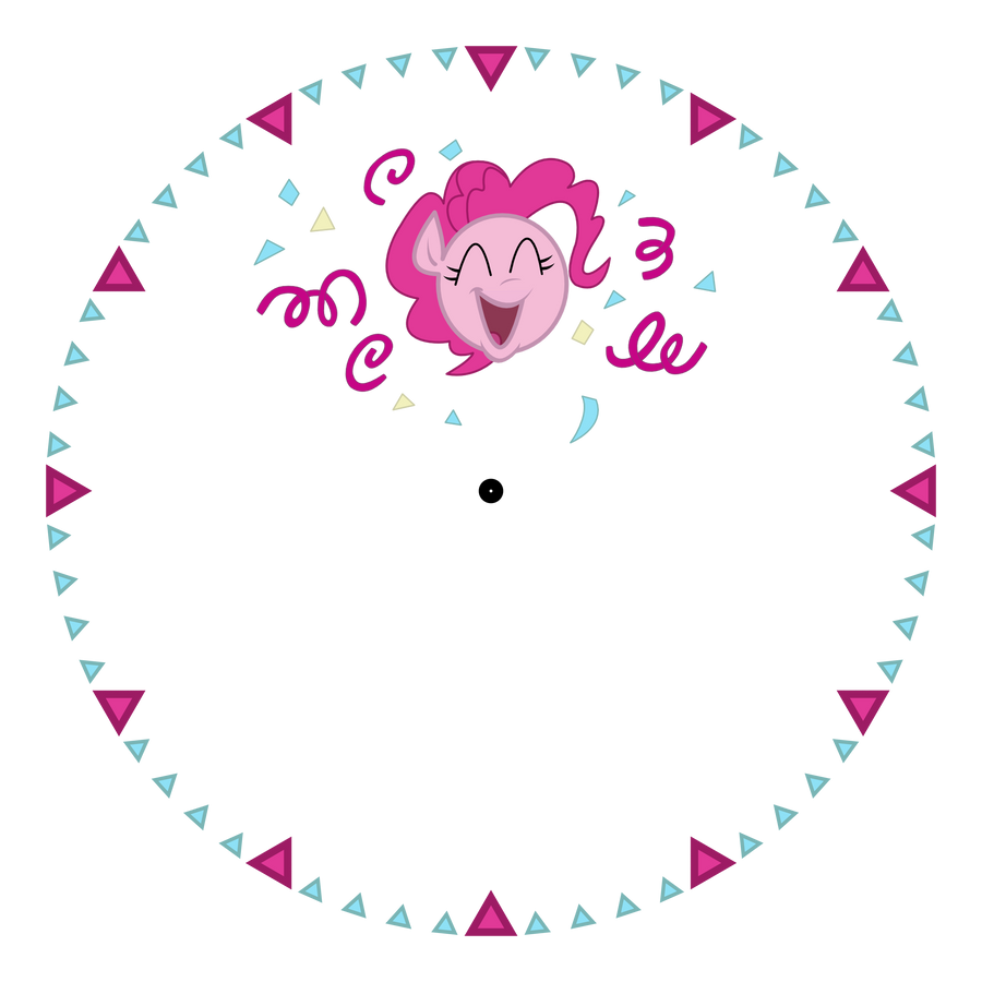 Clock Face Png Pinkie pie clock face by