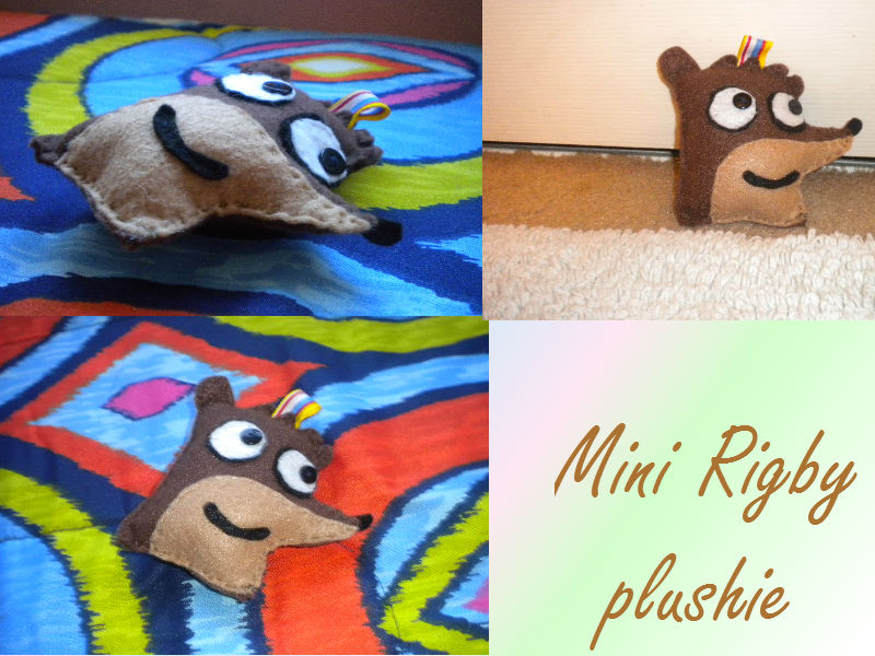 Mini Rigby plushie by LoraxFan