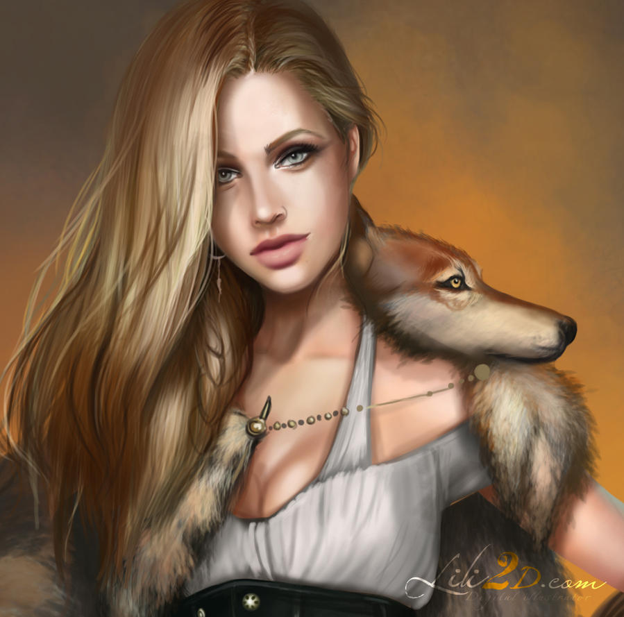 She Wolf Close-up work in progress by d-liliane