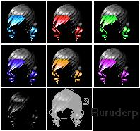 Mixed Hair by ruruderp