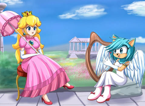Peach and Lucie - commission-