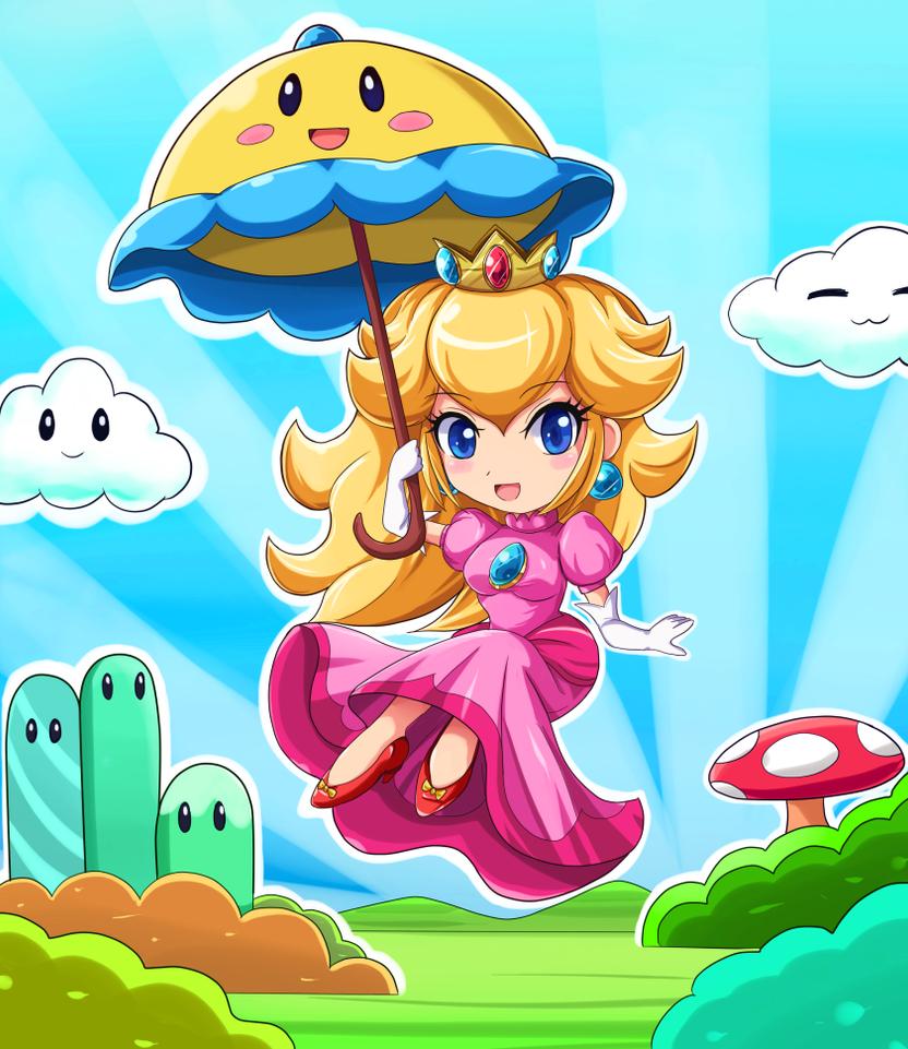 Chibi Super Princess Peach by SigurdHosenfeld
