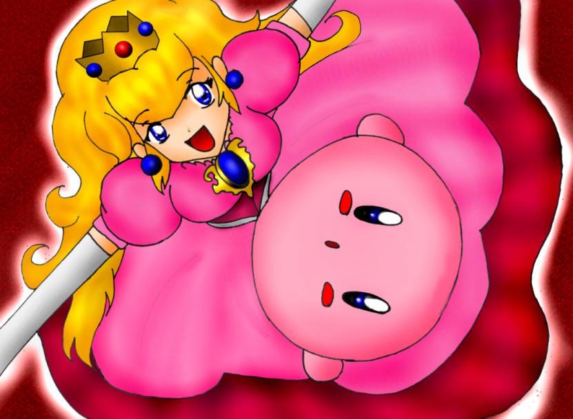 Cute Peach n' Kirby by SigurdHosenfeld on DeviantArt