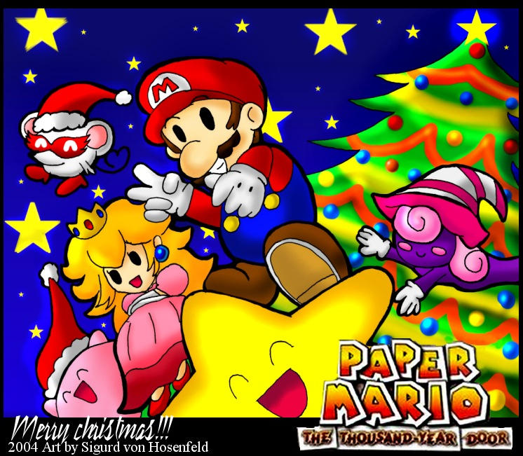 Paper Mario Christmas by SigurdHosenfeld