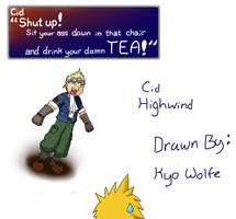 Cid Highwind by KyoRazorbladeWolf
