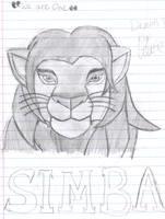 Lion King Simba Drawing by KyoRazorbladeWolf