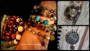 bracelets and medallions steampunk