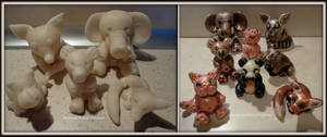Creatures of cold porcelain