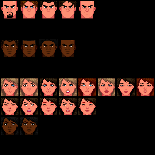NPC Faces - Incomplete by BrightBit