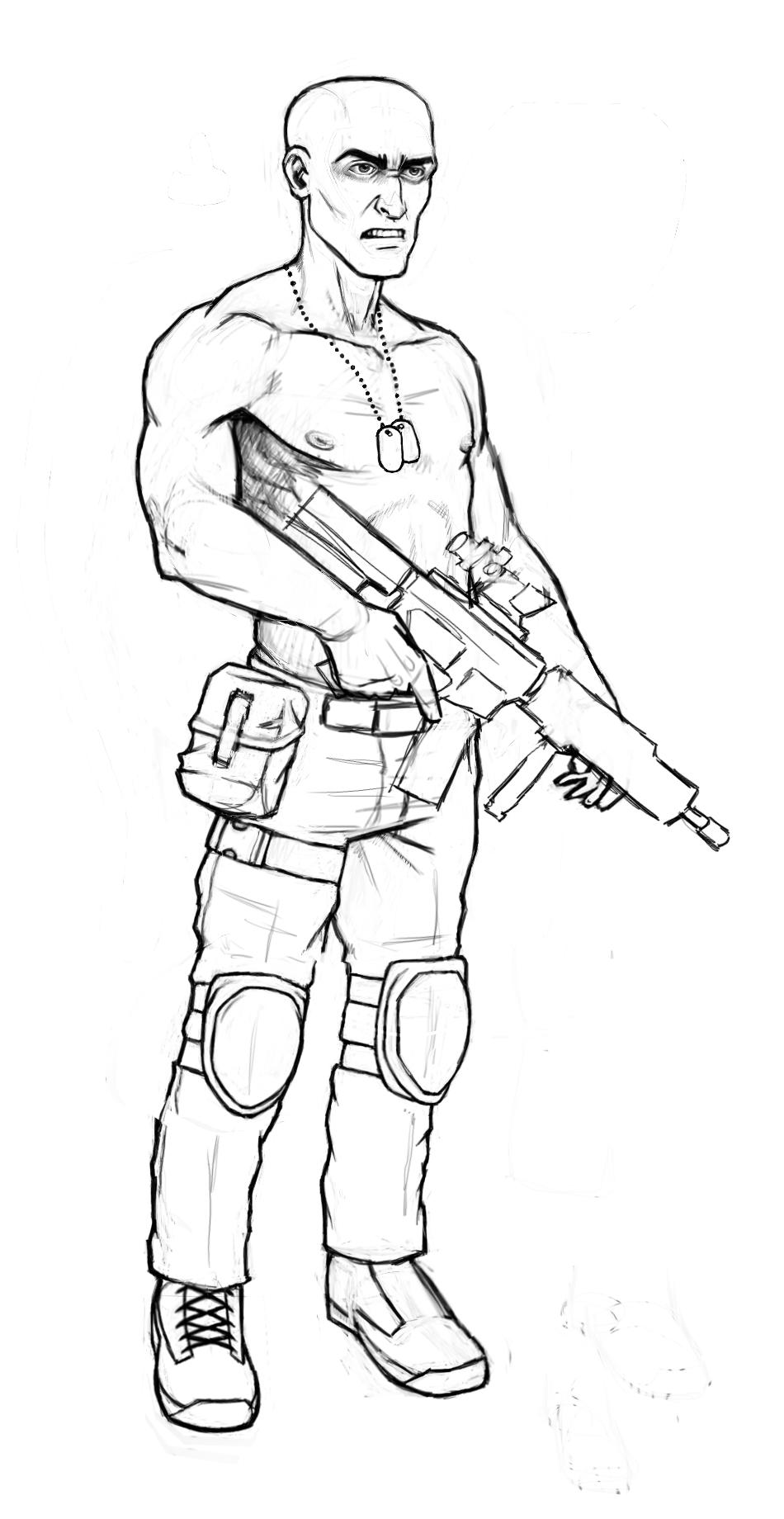 Generic U.S. Soldier by BrightBit