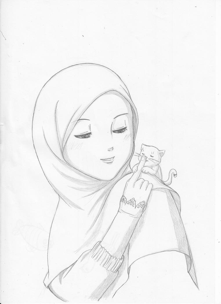 28 Gambar Sketsa Wanita Bercadar Www Wikigambar Com