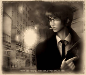 dark and empty street by BlackAppleStudio