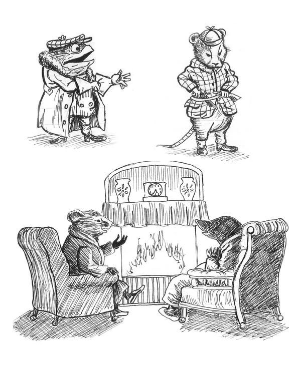 Wind in the willows by charlotte rhubarb on deviantart for Wind in the willows coloring pages