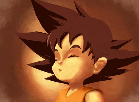 Kid Goku Paint practice