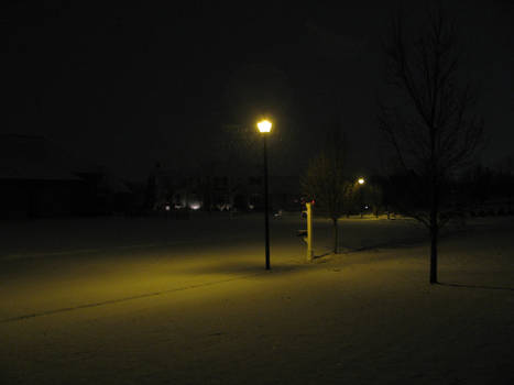 Lamppost in snow I