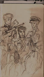 WWII zombies sketch