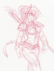 Scribble101 - Tauren Druid Lady