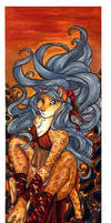 2005 Watercolor - Fire Cat