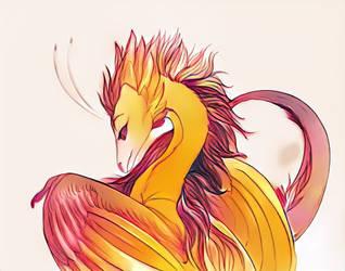 Flight Rising - Amaterasu Skydancer Doodle1 by frisket17
