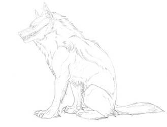 Linework - Good boy, Sit.  1 by frisket17
