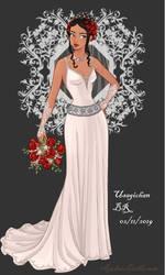 Wedding-Dress- Gamora (Human) by UsagichanBR