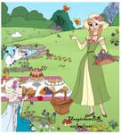 DISNEYCLIPS Anna's Picnic Dress Up