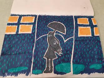 alone in rain  by Wind-Master13