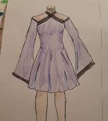 purple dress by Wind-Master13