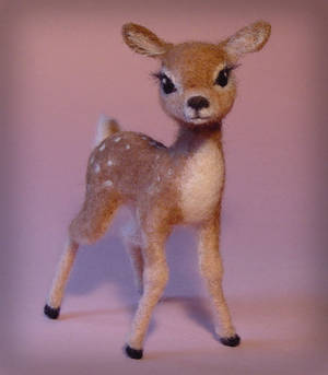 Needle Felted Baby Deer Fawn