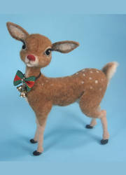 Rudolph Needle Felted Reindeer by ZadaCreations