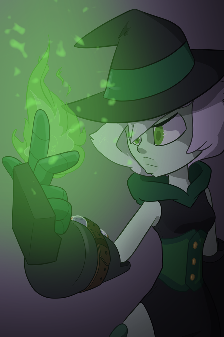 The gems of 9G1-3AB are kitting up in this evening's halloween based comic for a recon mission to earth on the spookiest day of the year and I wanted to do a piece featuring green since she's my main