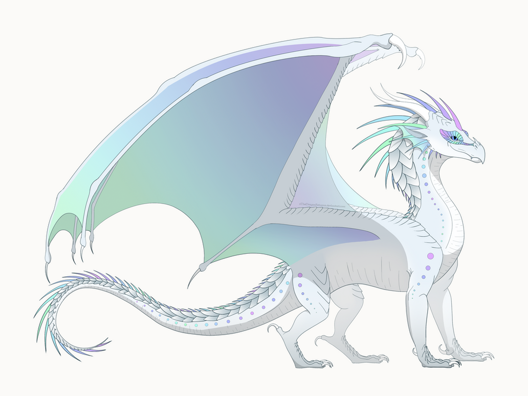 how to draw wings of fire icewings