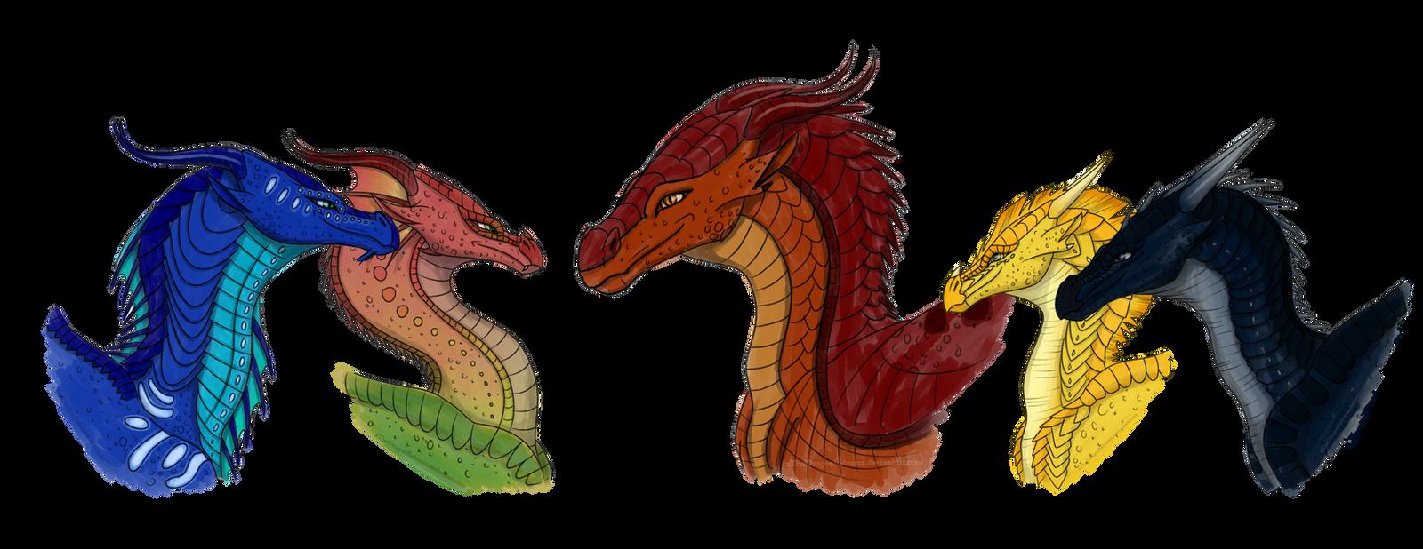 The Dragonets of Destiny by xTheDragonRebornx on DeviantArt