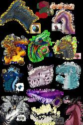 Gemstone Dragons Collab by xTheDragonRebornx
