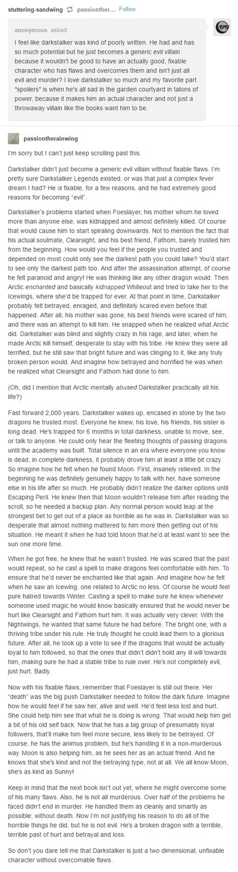 DarkStalker Preach by xTheDragonRebornx