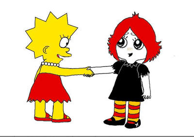 Lisa Simpson and Ruby Gloom by broad86new
