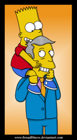Bart and Skinner by broad86new